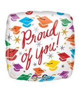 "18"" Proud of You Grad Balloon Packaged"