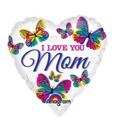 "9"" Airfill Only Love You Mom Butterflies Balloon"