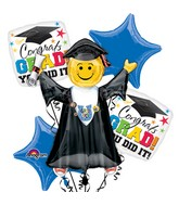 Bouquet of Balloons Bright Grad You Did It Balloon Packaged