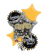 Bouquet of Balloons Glitter Grad Balloon Packaged
