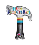 "35"" Happy Father's Day Hammer Balloon Packaged"