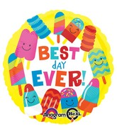 "18"" Best Day Ever Pops Balloon Packaged"