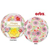 "16"" Orbz Multi-Film Flowery Anniversary Packaged"