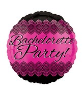 "18"" Bacherlorette Party Lace Balloon"