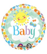"18"" Friendly Baby Sun Balloon Packaged"