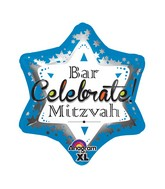 "21"" Junior Shape Bar Mitzvah Blue Balloon"
