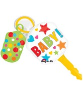 "38"" SuperShape Baby Keys Balloon"