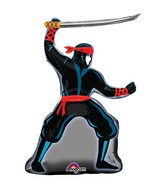 "34"" SuperShape Stealth Ninja Balloon Packaged"