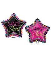 "30"" SuperShape Dance Star Balloon Packaged"