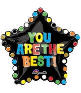"30"" SuperShape You Are The Best Star Balloon Packaged"