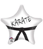"18"" Karate Star Balloon Packaged"