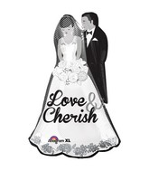 "34"" SuperShape Love and Cherish Couple Packaged"