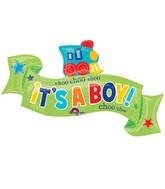 "40"" Welcome Little One - Boy Balloon Packaged"