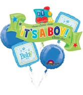 Bouquet Welcome Little One - Boy Balloon Packaged