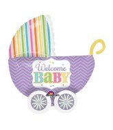 "32"" UltraShape Baby Brights Balloon Packaged"