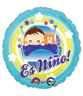 "18"" Es Nino Baby Boy In Bed Balloon"