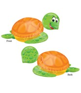 "31"" SuperShape Silly Sea Turtle Balloon Packaged"