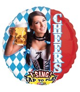 "28"" Singing Cheers and a Polka Balloon Packaged"