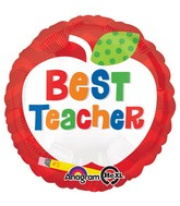 "18"" Best Teacher Apple Balloon"