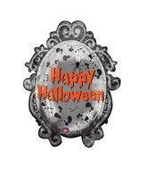 "31"" SuperShape Spooky Mirror Frame Balloon"