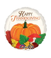 "18"" Happy Thanksgiving Pumpkin Balloon Packaged"