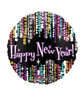"18"" New Year Pizzazz Balloon Packaged"