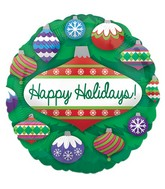 "9"" Airfill Only Holiday Ornaments Balloon"