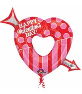 "35"" SuperShape Open Heart with Arrow Balloon"