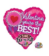 "29"" Singing Valentine, You're the Best Packaged"
