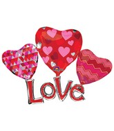 "58"" Multi-Balloon Floating Love Balloon Packaged"