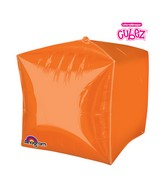 "15"" Cubez Cube Orange Balloon"
