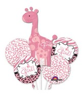Sweet Safari Girl Balloon Bouquet