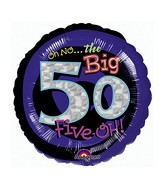 "18"" Holographic Oh No! It's My Birthday 50 Balloon"