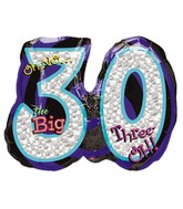 "26"" Oh No! It's My Birthday 30 Balloon"