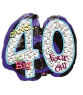 "27"" Oh No! It's My Birthday 40 Balloon"