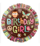 "18"" Hippie Chick Birthday Mylar Balloons"