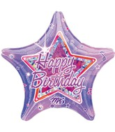 "18"" Rock Star Birthday Holographic Star"