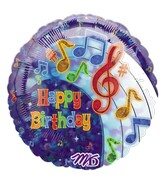 "18"" Party Tunes Birthday  Holographic Balloon"