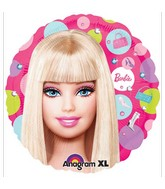 "18"" Barbie Pattern Mylar Balloon"