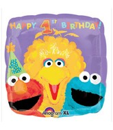 "18"" Sesame Street 1st Birthday Square"