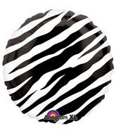 "18"" Zebra Balloon Packaged"