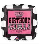 "18"" Rocker Princess Birthday Mylar Balloon"