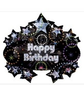 "31"" Holographic Party Marquee Balloon Packaged"