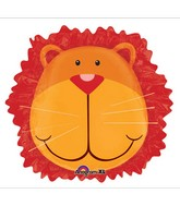 "24"" Jungle Animals Lion Head Balloon Packaged"