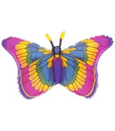 "32"" See-Thru SuperShape Flutters Butterfly Balloon"