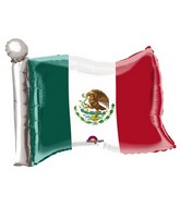 "27"" Jumbo Mexican Flag Balloon"