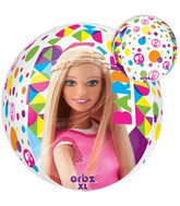 "16"" Orbz Jumbo Barbie Sparkle Balloon Packaged"