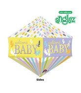 "21"" Jumbo Anglez Baby Feet Gender Neutral Balloon Packaged"