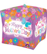 "15"" Cubez Jumbo Happy Mother's Day FlowersPackaged"