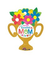 "29"" Jumbo Greatest Mom Trophy Cup Balloon"
